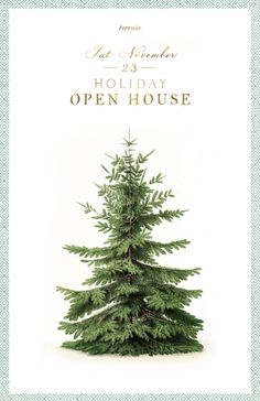 Holiday Open House At Terrain. Love this poster. I almost stole one off the door at Terrain it was so beautiful!