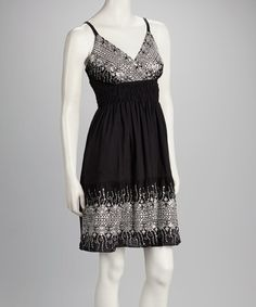 Take a look at this Black Embroidered Dress by Pink Apple on #zulily today!