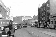 Looking East 1937.  Notice the commercial building at the corner of Washington and Cambridge Streets on what is now the new St Elizabeth's Hospital building