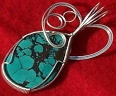 FREE S - Pendant - 2-Sided Genuine Turquoise & Silver - A JewelryArtistry Original - P296