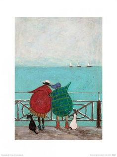 We Saw Three Ships Come Sailing By Sam Toft Print, 30cm x 40cm #popartuk #samtoft #mrmustard