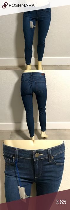 "Paige Verdugo 'Undone Hem' Crop Skinny Jeans Fitted from the waist to the ankles, these versatile blue skinny jeans are made from an innovative, high-performance blend of fabrics that provides stretch while maintaining incredible shape retention, sculpting a flawless silhouette that streamlines your curves.Threadbare released hems add punk-rock charm to the cute, cropped look. 	•	Approximate measurement 26"" inseam; 10 1/4"" leg opening; 8 3/8"" front rise; 13"" back rise (size 29) Inspect…"