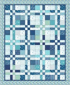 Landlocked Sea Lover's QuiltTutorial on the Moda Bake Shop. http://www.modabakeshop.com