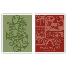 Sizzix Texture Fades Christmas Embossing Folders (Pack of 2) | Overstock.com