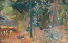 Paul Gauguin, The Bathers' (larger image) on ArtStack #paul-gauguin #art