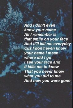 Shawn Mendes- I don't even know your name
