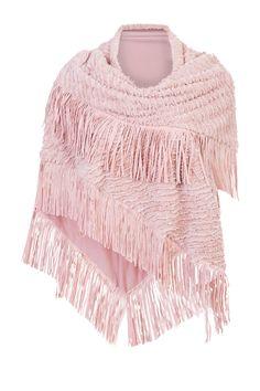 Poncho | Scarf | Fashion | Plussize fashion | Fringe | Omslagdoek | Sjaal met franjes