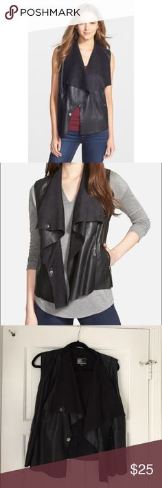 Kut from the kloth vegan leather vest Kut from the kloth vegan leather vest in black Kut from the Kloth Jackets & Coats Vests