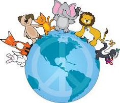 World Animal Day was started in 1931 at a convention of ecologists in Florence as a way of highlighting the plight of endangered species. October was chosen as World Animal Day as it is the Fea. Scrapbook Images, Pet Day, Peace On Earth, Animal Cards, Animals Of The World, Cute Illustration, Funny Cute, Pikachu, Clip Art