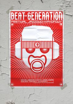 Red, pink and white posters by nikodem pregowski, via Behance