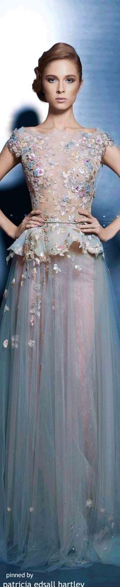 Ziad Nakad Couture 2015 womens fashion and style. Couture 2015, Couture Mode, Couture Fashion, Runway Fashion, Womens Fashion, Beautiful Gowns, Beautiful Outfits, Mode Glamour, Modelos Fashion