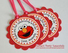 Favor Tags Elmo Birthday By Partiesbyadriana On Etsy