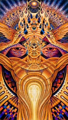 Partage of Psychedelic Experience by Alex Grey Psychedelic Experience, Psychedelic Art, Alex Gray Art, Art Visionnaire, Arte Peculiar, Eyes Artwork, Tool Artwork, Tool Band, Psy Art
