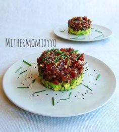 Sushi Recipes, Salmon Recipes, Seafood Recipes, Asian Recipes, Healthy Recipes, Healthy Cooking, Healthy Eating, Tuna Tartar, Vegetarian Comfort Food