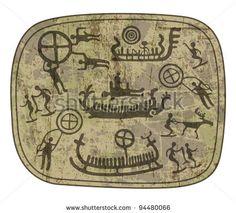 shamanic petroglyph by Grechko Vlada, via ShutterStock