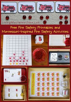 Free Fire Safety Printables and Montessori-Inspired Fire Safety Activities (long list of free fire safety printables for preschoolers through 1st graders)