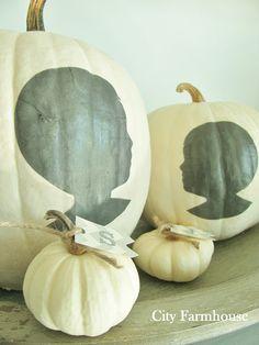 White Pumpkins & Silhouettes