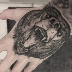 Angry bear by Robert Borbas by Robert Borbas (@ grindesign_tattoo)
