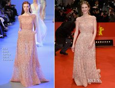 Melanie Laurent In Elie Saab Couture – 'Aloft' Berlin Film Festival Premiere    #fashion #RedCarpet #Celebrity