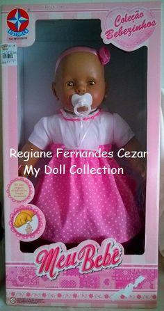 My Dolls Collection: Boneca Meu Bebê, Negra, Estrela, 2014 #MiBebe #Berjusa molde #Estrela