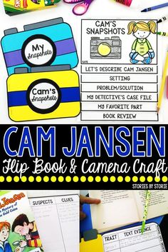 Cam Jansen books are enjoyable for both first and second grade students. This flip book and camera craft can be used with any of the books in the Cam Jansen series. These booklets are great for reading groups or book clubs!