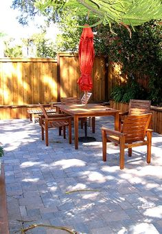 pavers-close together.  Prefer this to grass/weeds growing in-between