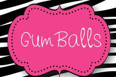 Zebra and Hot Pink Candy Buffet Labels