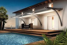 Outdoor Canopy and Pergola by Corradi: Retractable Awning Deck Canopy, Backyard Canopy, Canopy Bedroom, Garden Canopy, Canopy Outdoor, Outdoor Pergola, Diy Pergola, Pergola Ideas, Pergola Kits