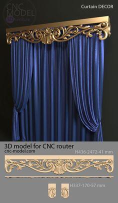 Acabamento para cortinas - Alaskacrochet.com Luxury Curtains, Elegant Curtains, Home Curtains, Beautiful Curtains, Modern Curtains, Door Design, Bed Design, House Design, Home Decor Furniture