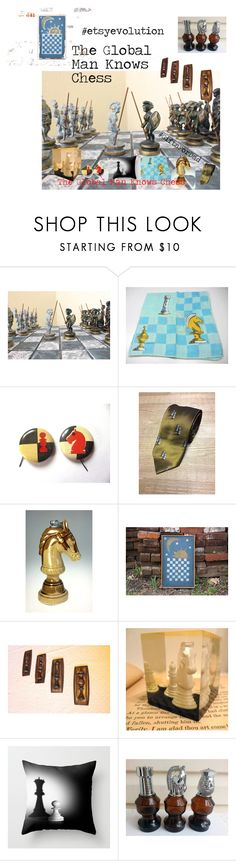 The Global Man Knows Chess by deesweetnostalgia on Polyvore featuring Avon, vintage, men's fashion and menswear