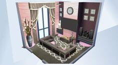 ¡Mira esta habitación en la galería de Los Sims 4! - #oldpink #gray #eating #drinking