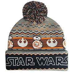 7a42281933c The knit hat features the newest droid that made his debut in