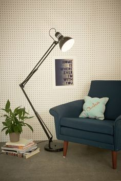 Floor Lamp UK Plug in Black at Urban Outfitters