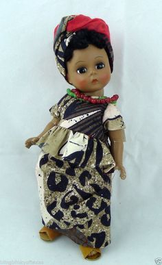 """RARE Madame Alexander  -- AFRICA Miniature Showcase Girl Doll  8"""" African American   - ENDS TODAY!"""