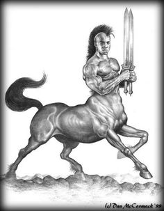 Centaur: The most famous of these half man half horse is Chiron, who served as a teacher and mentor to many young men destined for greatness, includi...