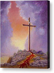 cross paintings on canvas | ... Painting Canvas Prints and Crucifiction Painting Canvas Art for Sale
