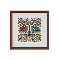 Primitive cross stitch patterns Counted cross by StitcheryStitch