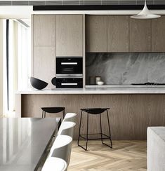 What You Need to Know About Fabulous Modern Kitchen Sets on Simplicity, Efficiency and Elegance The design is created up in a Turkish style. You have to understand what is it you wish to accomplish from your kitchen design. Australian Interior Design, Interior Design Awards, Interior Design Kitchen, Minimal Kitchen Design, Modern Apartment Design, Minimalistic Kitchen, Grey Interior Design, Modern Kitchen Interiors, Contemporary Apartment