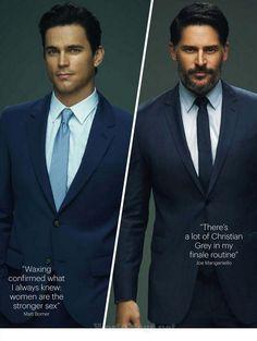 Matt Bomer and Joe Manganiello (Glamour magazine UK)