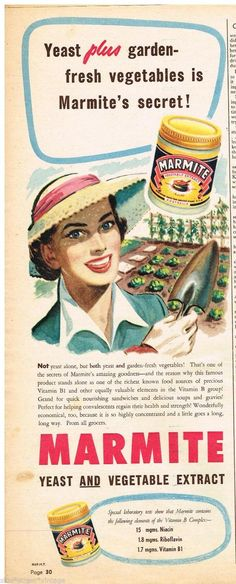 Original SANITARIUM MARMITE AD JAR ART 1953 Vintage Australian Advertising | eBay