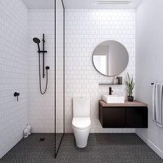 Modern Small Bathroom Design The Basic Components of Modern Bathroom Designs Modern Small Bathroom Design. Incorporating a modern bathroom design will give you a more … Minimalist Bathroom, Bathroom Renovation, Shower Room, Bathroom Decor, Trendy Bathroom, Tile Trends, Interior, Bathrooms Remodel, Tile Bathroom