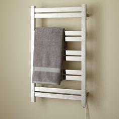 "20"" Brenton Extra-Tall Plug-In Towel Warmer - Polished Finish"