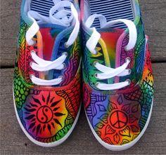 Zentangle zapatillas zapatos zapatillas por ArtworksEclectic
