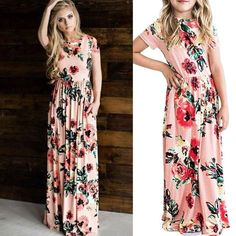 Mom and daughter matching summer dresses – Fabulous Bargains Galore Maxi Dresses, Strapless Dress, Summer Dresses, Ladies Day Dresses, Girls Dresses, Mom And Daughter Matching, 8 Year Old Girl, Holiday Wear, Every Girl