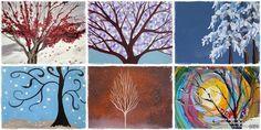 Πίνακες ζωγραφικής Χειμωνιάτικα δέντρα - Popi-it.gr