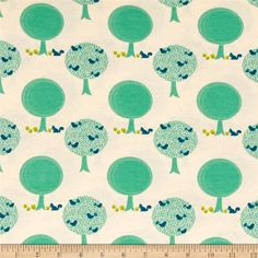 Riley Blake Cotton Jersey Knit Acorn Forest Cream from @fabricdotcom  Designed by Patty Young for Riley Blake Fabrics, this lightweight stretch cotton jersey knit fabric features a smooth hand and about a 50% four way stretch for added comfort and ease. It is perfect for making t-shirts, dresses, children's apparel and more! Colors include blue, citrus green, teal and cream.