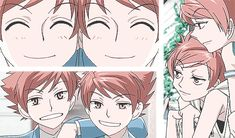 "The characters Hikaru and Kaoru, from the series ""Ouran Highschool Host Club."" >> I really like the one at the top, when each twin takes a turn looking through the eyehole in the door. :)"