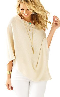 Lilly Pulitzer Bayshore Metallic Sweater Wrap