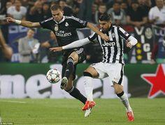 Pepe defends against former Real Madrid striker Alvaro Morata
