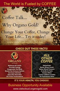 Why Organo Gold Coffee? Infused with a secret ancient herb, Garnoderma lucidium, healing for every ailment, change your coffee change your life, call 416 371 2092 for a free sample or order at www.loavesandfish.organogold.com